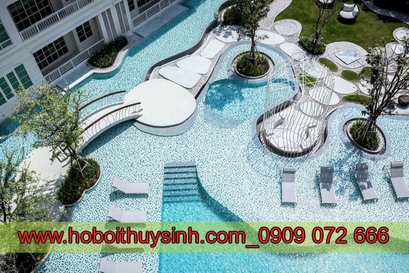 Thi công thiết kế bể bơi ngoài trời đẹp